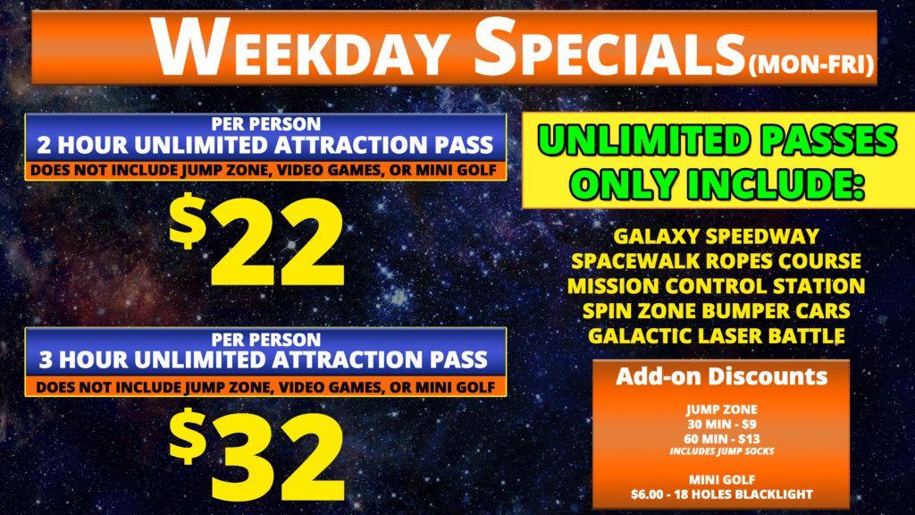Weekday Specials updated